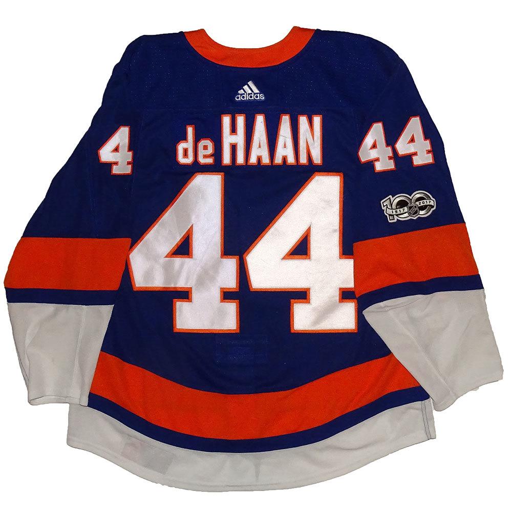 Calvin de Haan - Game Worn Home Jersey - 2017-18 Season - New York Islanders