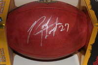 NFL - GIANTS RODNEY HAMPTON SIGNED AUTHENTIC FOOTBALL