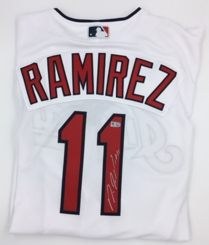 Photo of Jose Ramirez Autographed Authentic Indians Jersey