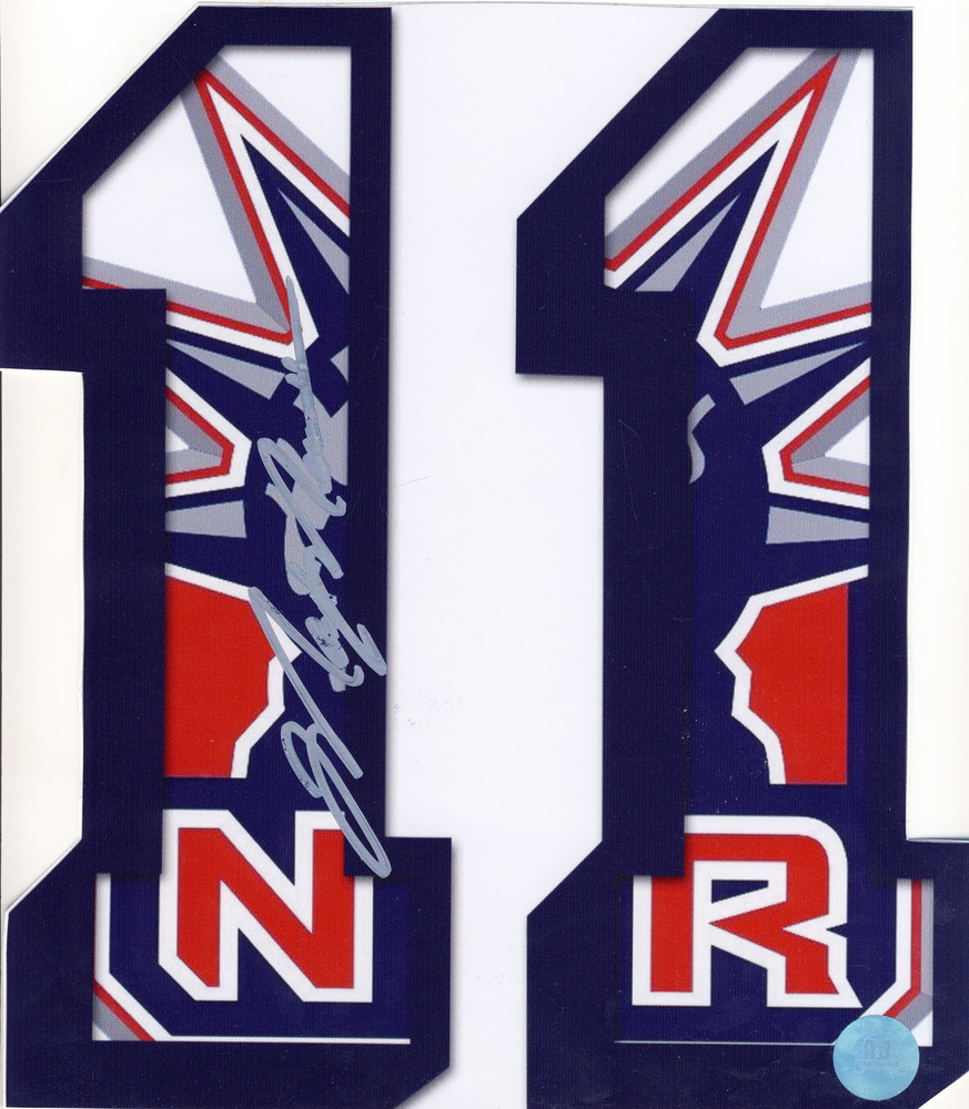 MARK MESSIER New York Rangers Autographed #11 Decal