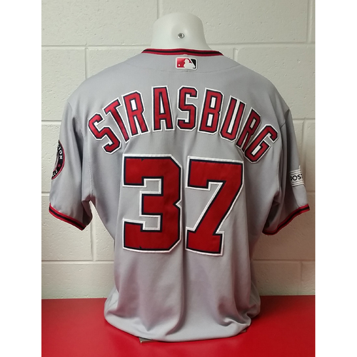 Photo of NLDS Game-Used Jersey: Stephen Strasburg