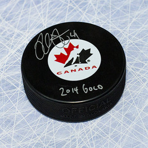 Mike Smith Team Canada Autographed Hockey Puck w/ 2014 Gold Note *Arizona Coyotes*