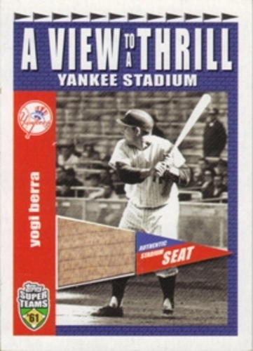 Photo of 2002 Topps Super Teams A View To A Thrill Relics #VTYB Yogi Berra 1