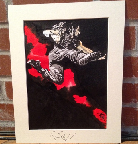 Roman Reigns Signed Painting by Rob Schamberger