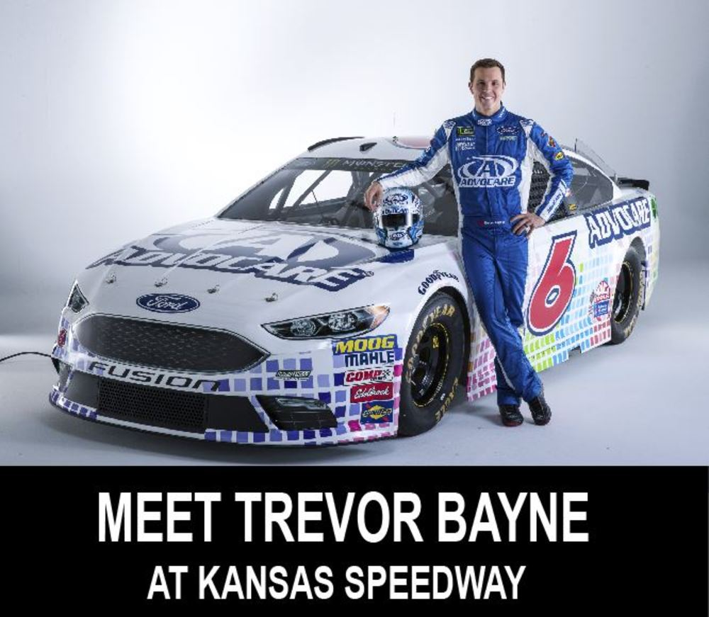 Meet & Greet with NASCAR Driver Trevor Bayne at Kansas Speedway!!!!