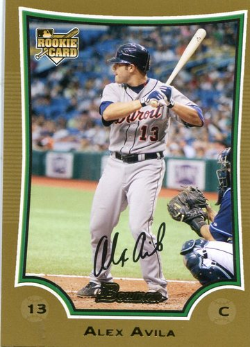 Photo of 2009 Bowman Draft Gold #BDP13 Alex Avila Cubs post-season