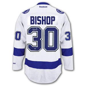 Ben Bishop Tampa Bay Lightning RBK Premier Autographed Jersey