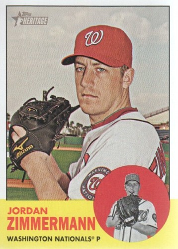 Photo of 2012 Topps Heritage #171 Jordan Zimmermann