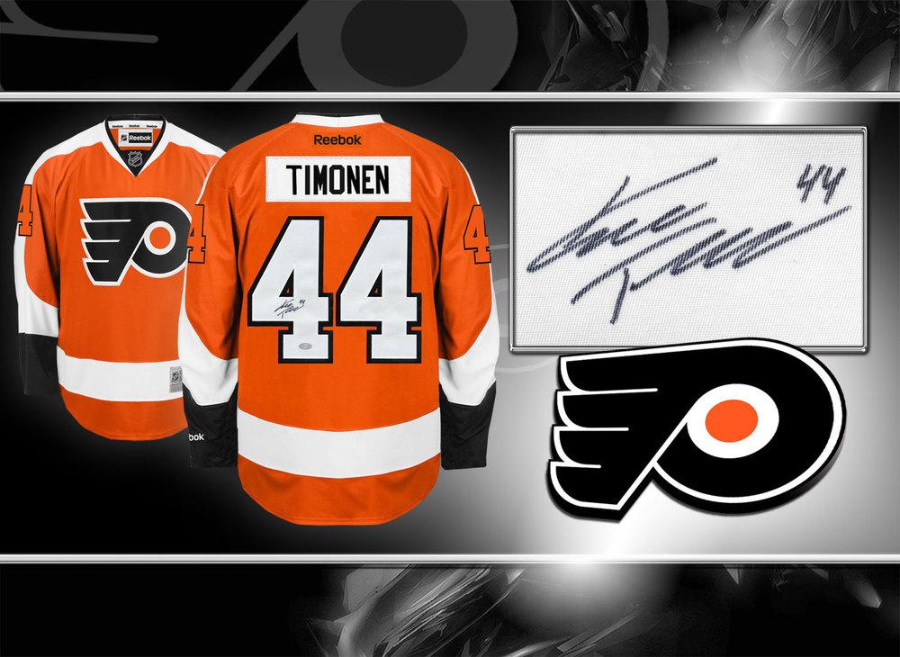 Kimmo Timonen Philadelphia Flyers RBK Premier Autographed Jersey