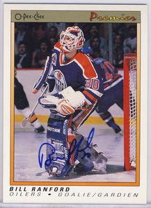 Bill Ranford Edmonton Oilers Autographed Hockey Card