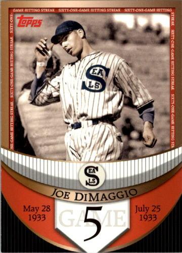 Photo of 2007 Topps DiMaggio Streak Before the Streak #JDSF5 Joe DiMaggio