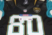 NFL - INTERNATIONAL SERIES - JAGUARS JULIUS THOMAS GAME WORN JAGUARS JERSEY (OCTOBER 25 2015)