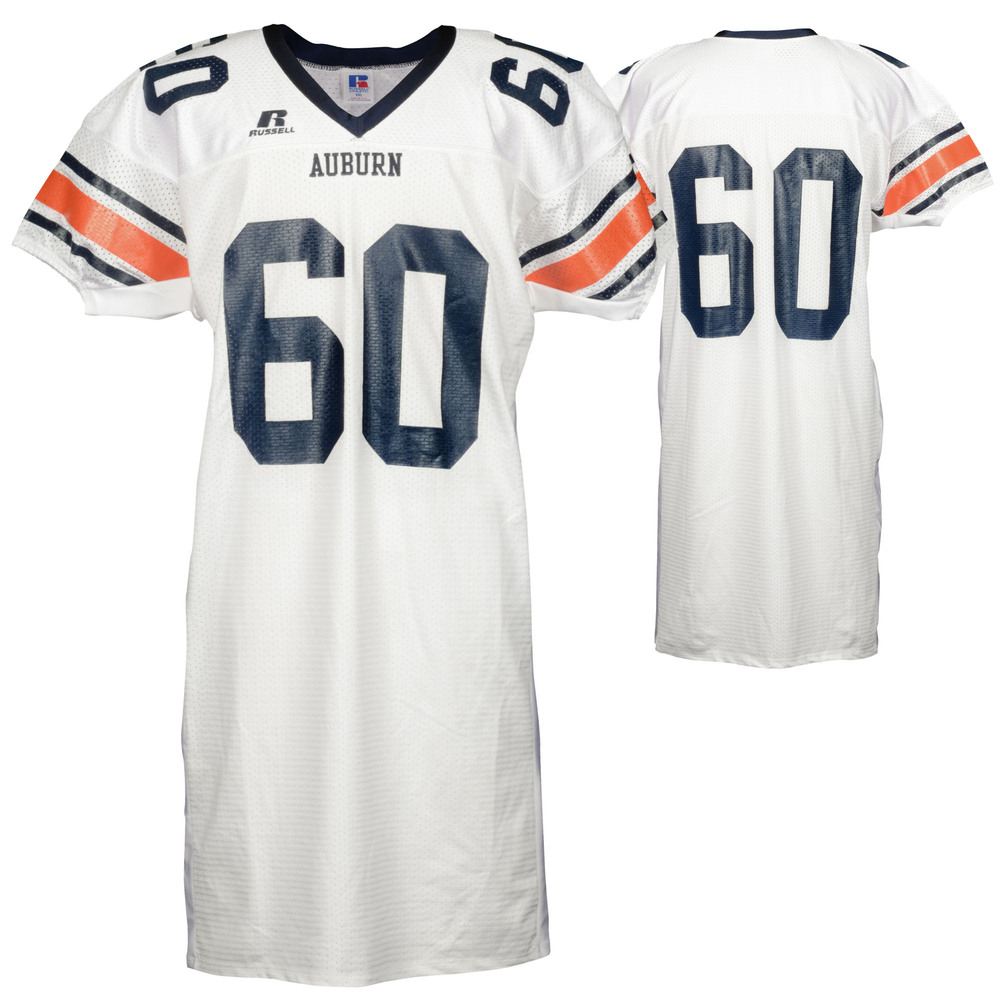 Auburn Tigers Game-Used 2003-2005 Russell White Football Jersey #60 - Size 2XL