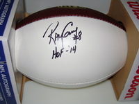 HOF - RAIDERS RAY GUY SIGNED PANEL BALL
