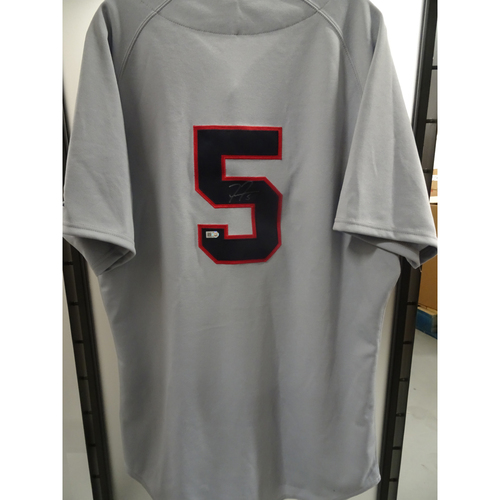 Photo of Freddie Freeman Game-Used and Autographed 1969 Throwback Jersey