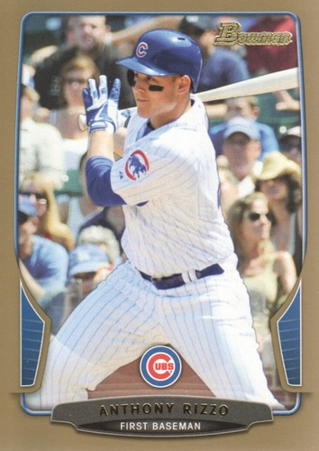 Photo of 2013 Bowman Gold #177 Anthony Rizzo Cubs post-season