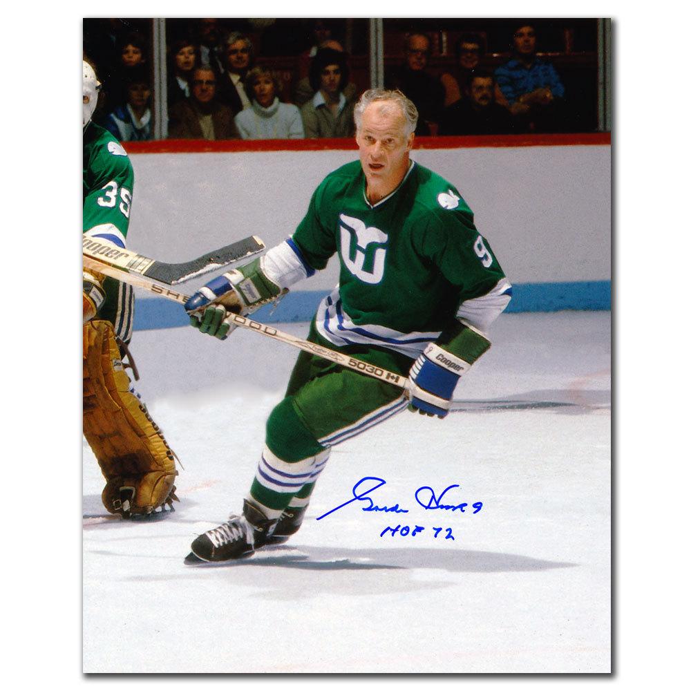 Gordie Howe Hartford Whalers HOF Autographed 8x10