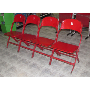 Actual Row of Four Seats from the Detroit Olympia (Detroit Red Wings)