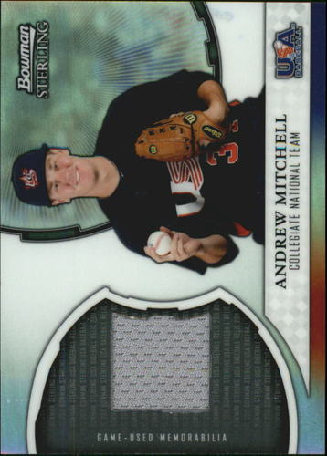 Photo of 2011 Bowman Sterling USA Baseball Relics #AM Andrew Mitchell