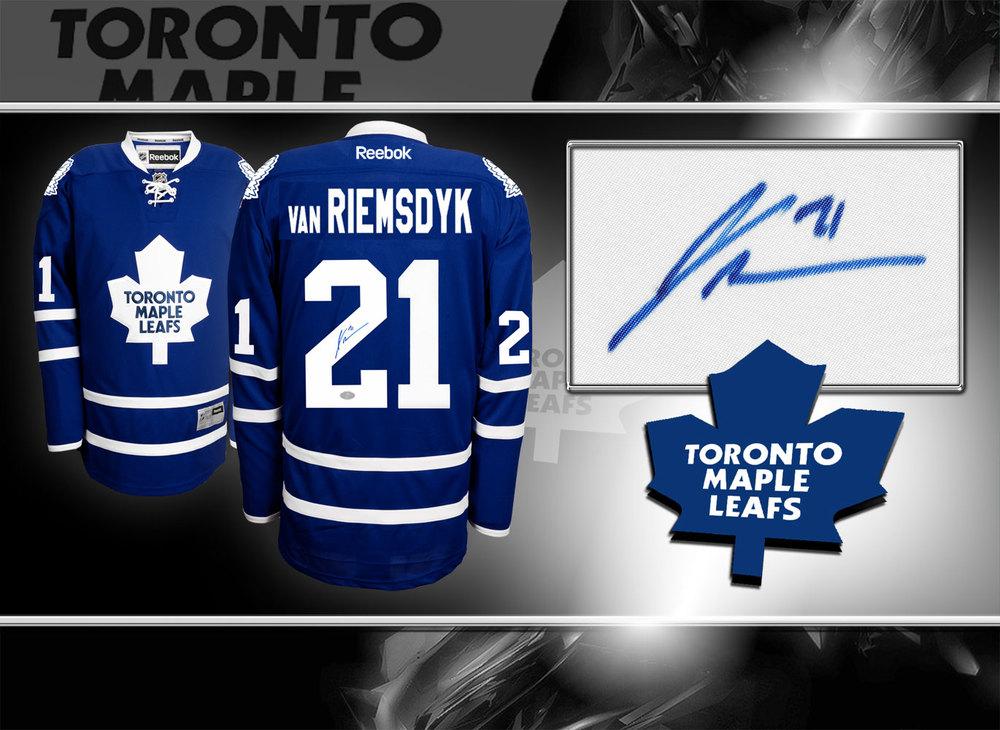 James Van Riemsdyk Toronto Maple Leafs RBK Premier Autographed Jersey