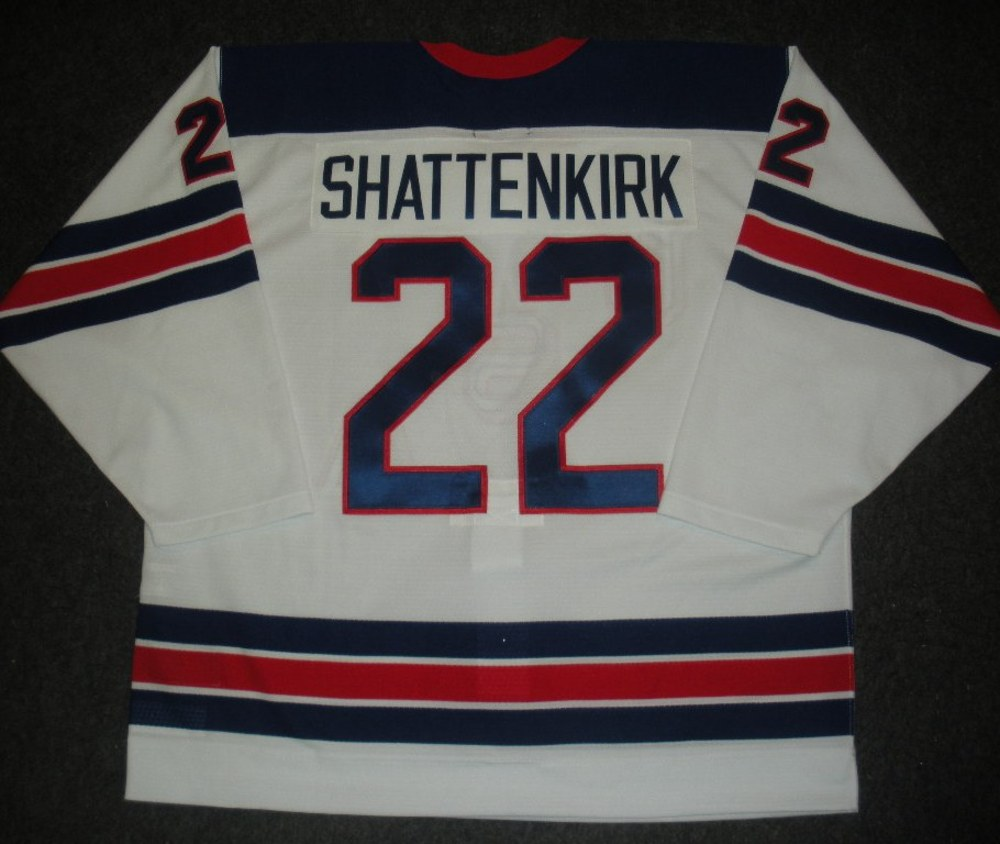 Kevin Shattenkirk - Sochi 2014 - Winter Olympic Games - Team USA Throwback Game-Worn Jersey - Worn in 2nd and 3rd Periods vs. Slovenia, 2/16/14