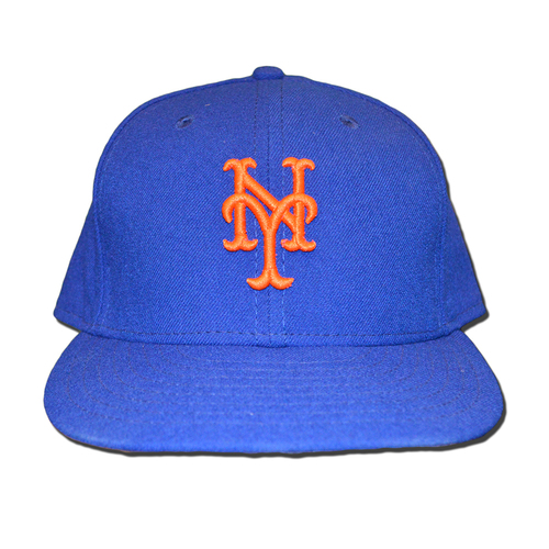 Photo of Yoenis Cespedes #52 - Game Used 1986 Throwback Hat - Mets vs. Phillies - 9/25/16