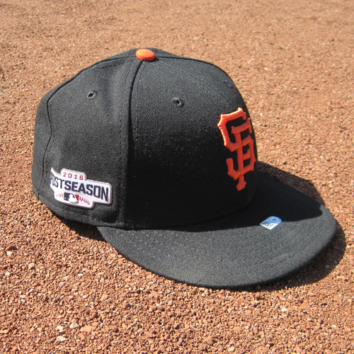 Photo of San Francisco Giants - Game-Used Postseason Cap - WC & NLDS - Hunter Strickland #60 (7 1/4)