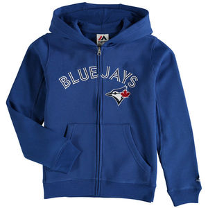 Toronto Blue Jays Toddler Full Zip Wordmark Hoody by Majestic