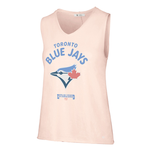 Toronto Blue Jays Women's Pink Letter Tank by '47 Brand