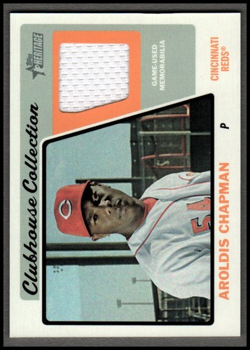Photo of 2015 Topps Heritage Clubhouse Collection Relics #CCRAC Aroldis Chapman