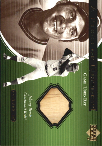Photo of 2001 Upper Deck Ovation A Piece of History #JB Johnny Bench