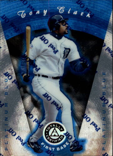 Photo of 1997 Pinnacle Totally Certified Platinum Blue #18 Tony Clark