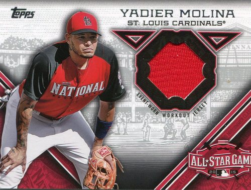 Photo of 2015 Topps Update All Star Stitches Yadier Molina