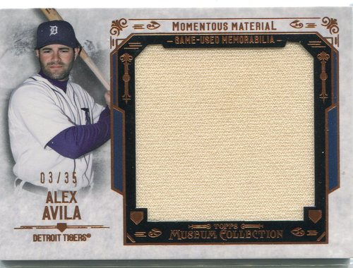 Photo of 2015 Topps Museum Collection Momentous Material Relics Copper  3/35 Alex Avila Cubs post-season