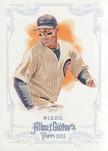 Photo of 2013 Topps Allen and Ginter #192 Anthony Rizzo Cubs post-season