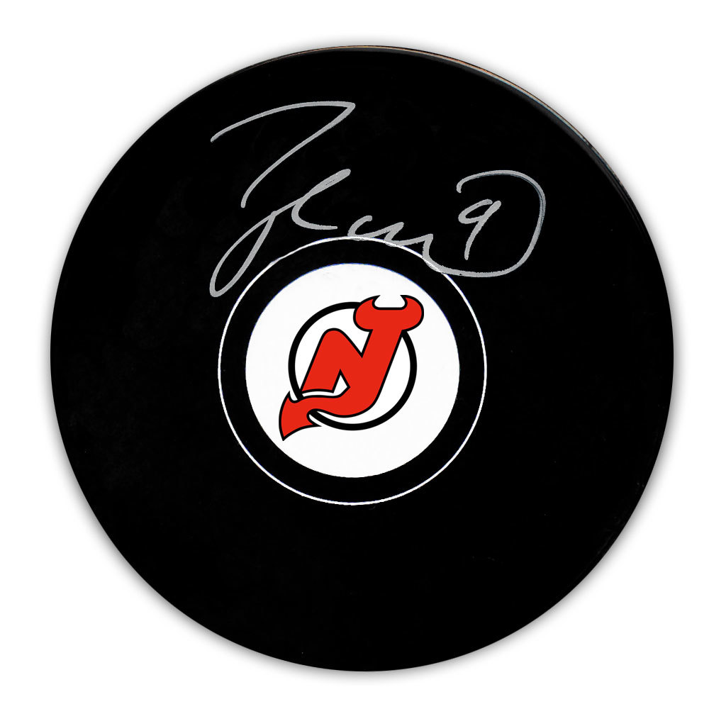 Taylor Hall New Jersey Devils Autographed Puck