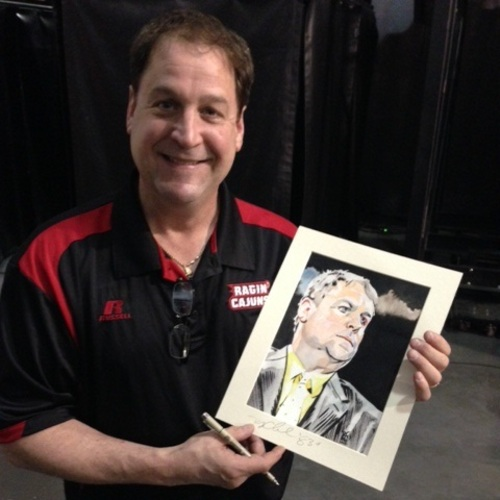 Tony Chimel Signed Painting by Rob Schamberger