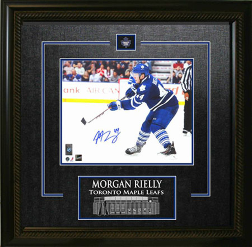 Morgan Rielly Signed Framed 8x10 Etched Mat Dark Shooting