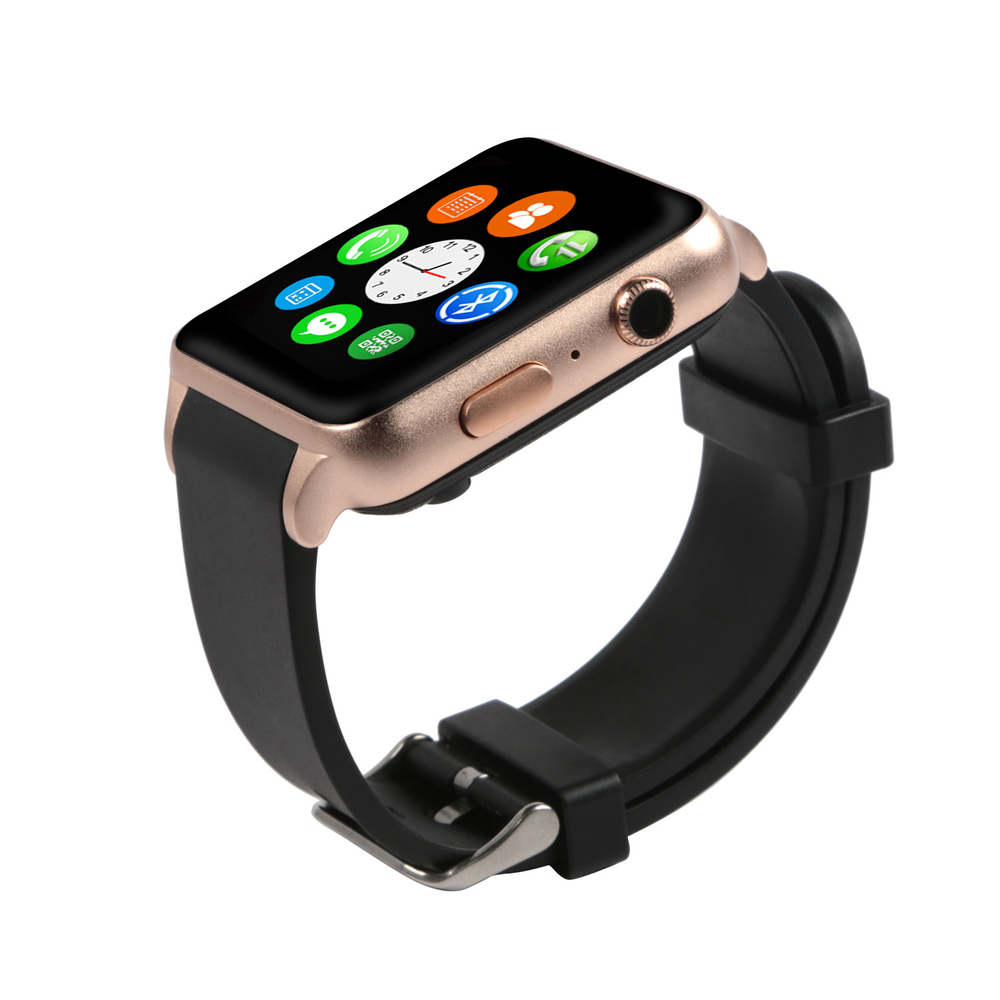 GPCT Smart Watch - Bluetooth [Android/iOS], Touch Screen, Water Resistant, Workout/Sleep/Heart Rate Monitor - Gold