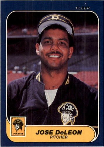 Photo of 1986 Fleer #607 Jose DeLeon