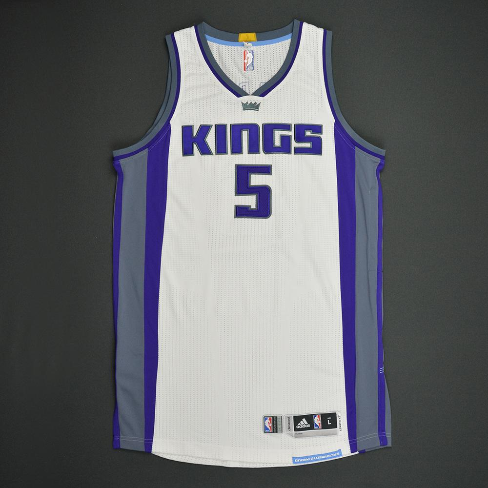 Malachi Richardson - Sacramento Kings - Game-Issued Rookie Season Jersey - 2016-17 Season