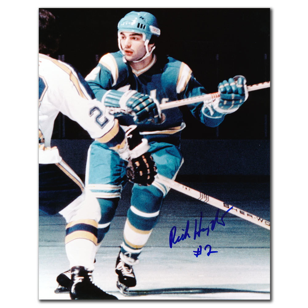 Rick Hampton California Golden Seals Autographed 8x10
