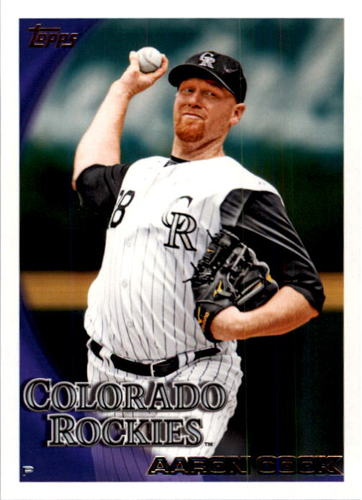 Photo of 2010 Topps #621 Aaron Cook