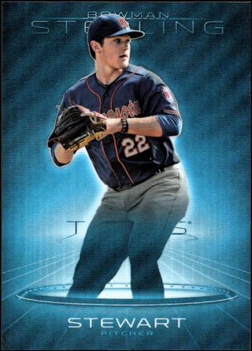 Photo of 2013 Bowman Sterling Prospects Blue Refractors #36 Kohl Stewart