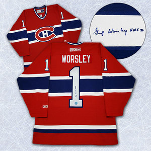 Gump Worsley Montreal Canadiens Autographed Retro CCM Jersey