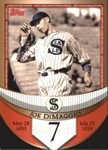 Photo of 2007 Topps DiMaggio Streak Before the Streak #JDSF7 Joe DiMaggio