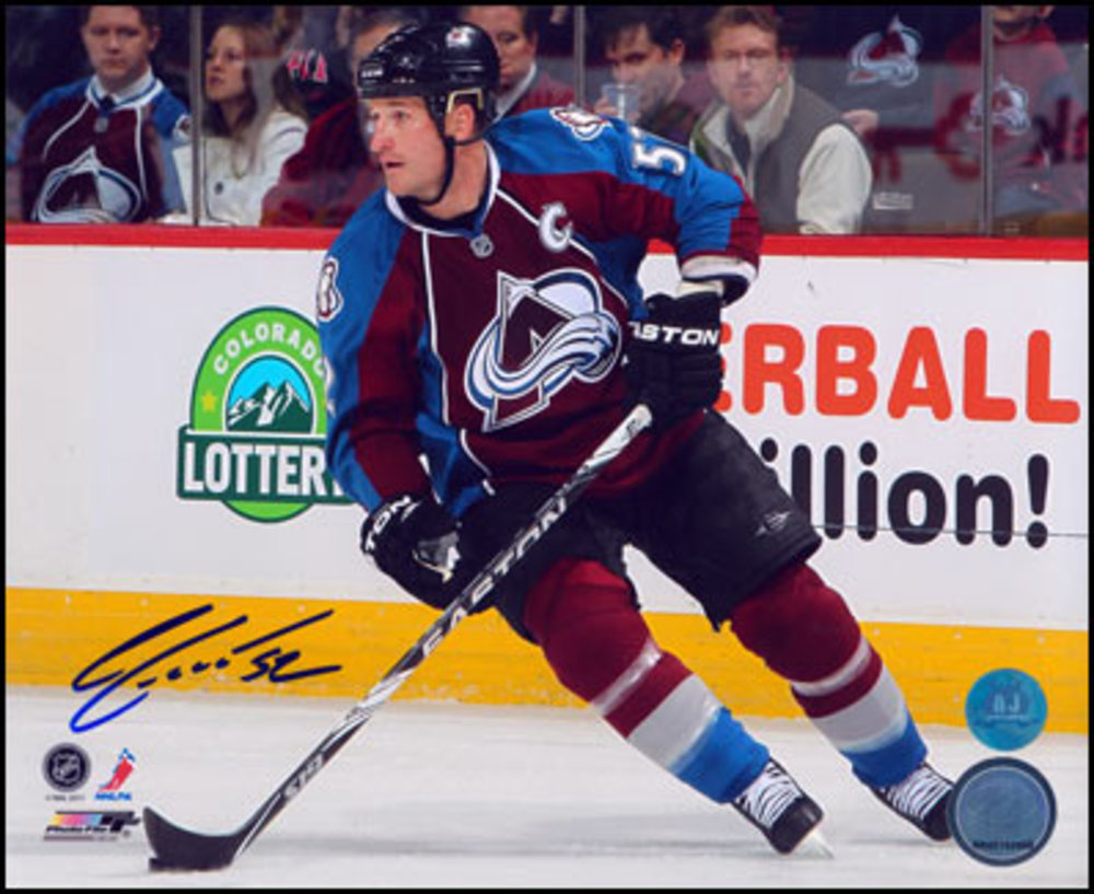 ADAM FOOTE Colorado Avalanche SIGNED 8x10 Photo Captain Photo