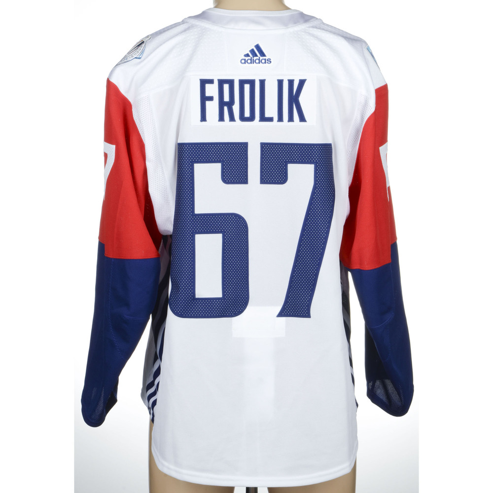 Michael Frolik Calgary Flames Game-Worn 2016 World Cup of Hockey Team Czech Republic Jersey, Worn Against Team Canada During September 17th