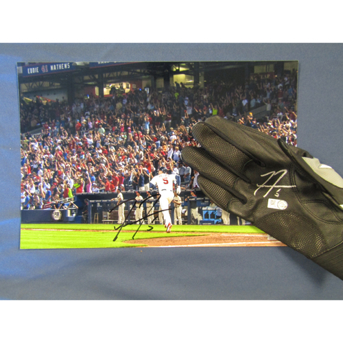 Photo of Braves Charity Auction - Freddie Freeman Autographed Photo and Batting Glove