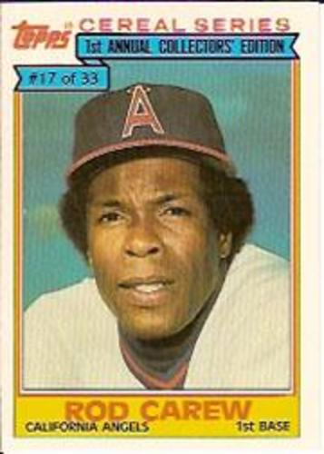 Photo of 1984 Topps Cereal #17 Rod Carew